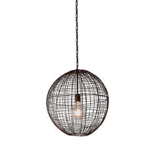 Cray Ball Medium - Antique Copper - Wire Weave Ball Pendant Light
