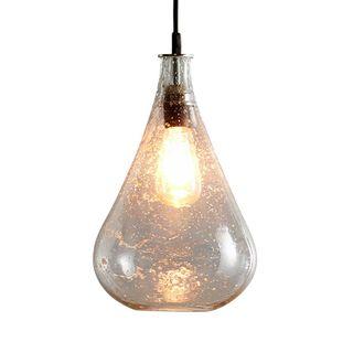 Lustre Teardrop - Clear - Stone Effect Glass Teardrop Pendant Light