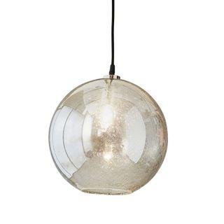 Lustre Ball - Clear - Stone Effect Glass Ball Pendant Light