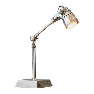 Hanover - Antique Silver - Solid Brass Adjustable Table Lamp