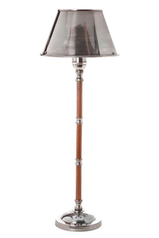 Delaware Table Lamp W/Metal Shade Silver