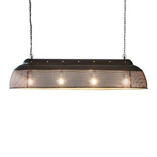 Riva Extra Long - Matt Black/Gold - Perforated Iron Elongated Pendant Light
