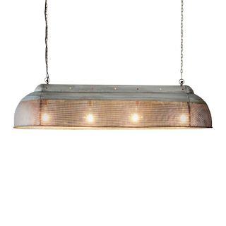 Riva Extra Long - Zinc - Perforated Iron Elongated Pendant Light