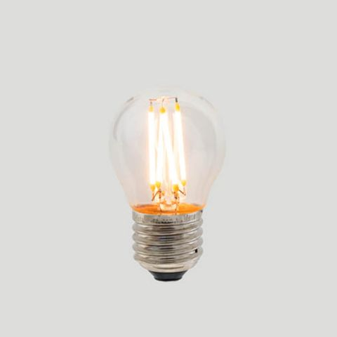 G45 Fancy Round E27 LED Filament - Clear Glass - 3W E27 2200k