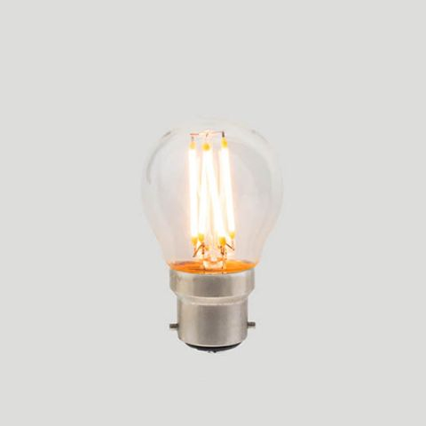 G45 Fancy Round B22 LED Filament - Clear Glass - 3W B22 2200k