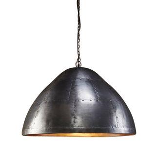 P51 Large - Zinc - Iron Riveted Dome Pendant Light