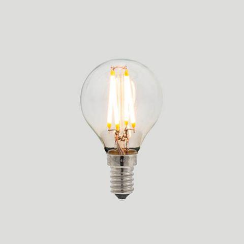 G45 Fancy Round E14 LED Filament - Clear Glass - 3W E14 2200k