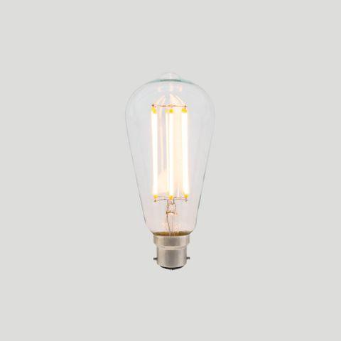 ST64 Long LED Filament - Clear Glass - 8W E27 3000k