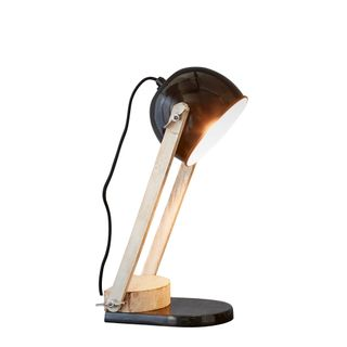 Karl - Black - Domed Head Adjustable Table lamp