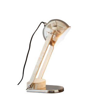 Karl - Silver - Domed Head Adjustable Table lamp