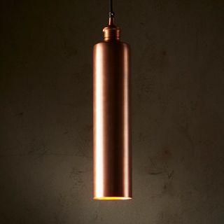 Zurich Long - Antique Copper - Drum Pendant Light