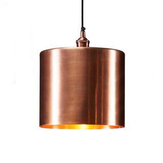Zurich 2 Large - Antique Copper - Drum Pendant Light