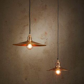 Forbes 2 Large - Antique Brass - Dish Pendant Light