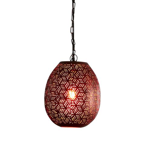 Sigma Small - Bronze - Perforated Pod Pendant Light
