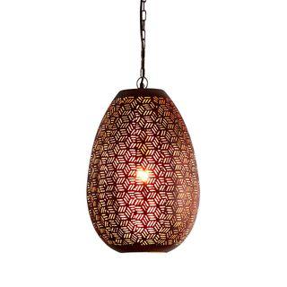 Sigma Medium - Bronze - Perforated Pod Pendant Light