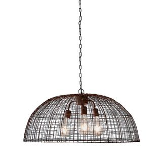 Cray Dome - Antique Copper - Wire Weave Dome Pendant Light