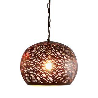 Kappa Small - Bronze - Perforated Dome Pendant Light