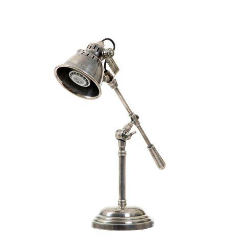 Newcastle Desk Lamp Antique Silver