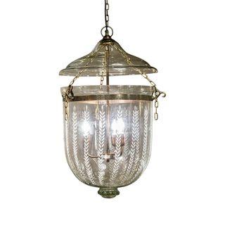 Bell Jar Ceiling Pendant Large Brass