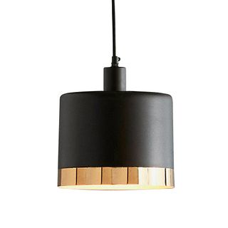 Montreux Large - Black/Gold - 2 Tone Drum Pendant Light