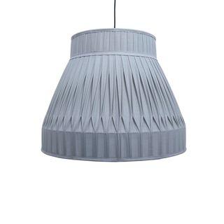 Bella - Ecru - Pleated Drum Fabric Pendant Light