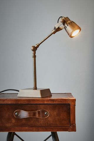 Hanover - Antique Brass - Solid Brass Adjustable Table Lamp