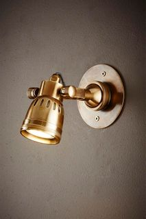 Seattle Short Arm Wall Light Brass