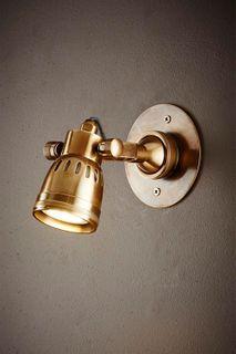 Seattle Short Arm Wall Light Brass