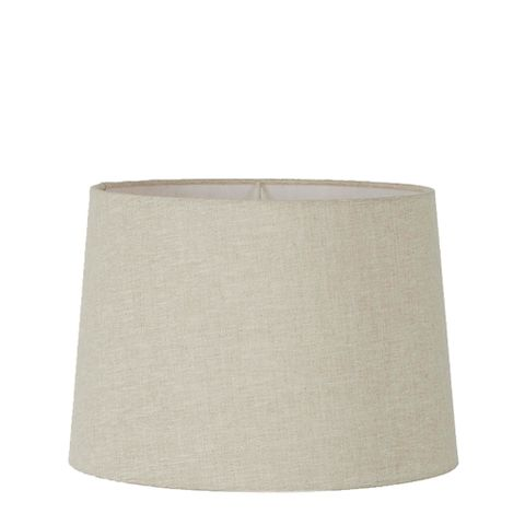 Large Drum Lamp Shade (16x14x10 H) - Light Natural Linen - Linen Lamp Shade with E27 Fixture