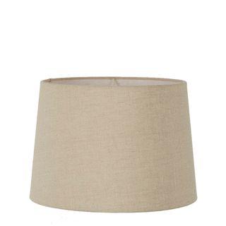 Linen Drum Lamp Shade Large Dark Natural