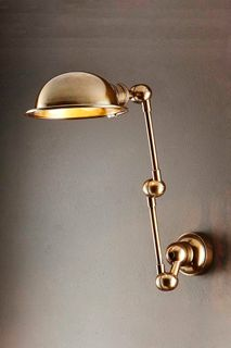 Lincoln Wall Light with Metal Shade Brass