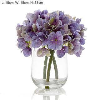 Hydrangea in Glass Vase Blue