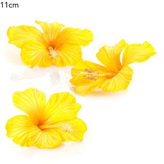 Floating Hibiscus (bag/3) yellow 11cm