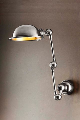 Lincoln Swing Arm Sconce Silver