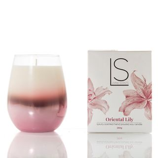 Candle Oriental Lily  in Glass Votive