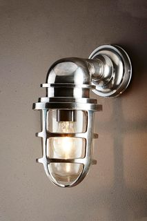 Porto Wall Lantern Antique Silver