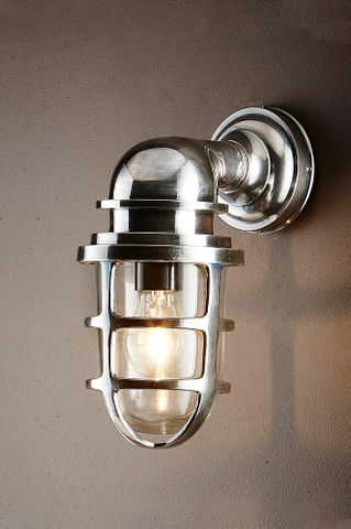 Porto Outdoor Wall Lantern Antique Silver