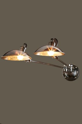 Remington Double Arm Wall Light Silver