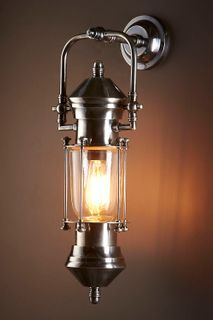 Lisbon Ship Lantern Antique Silver