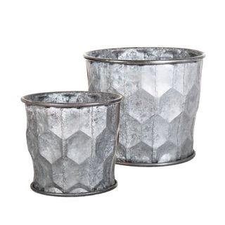 Honeycomb Zinc Pots Set/2