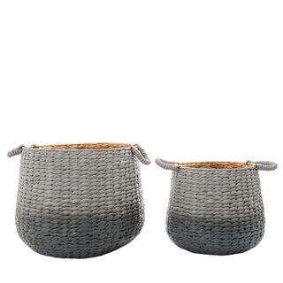 Playa Ombre Gris Basket Set of 2