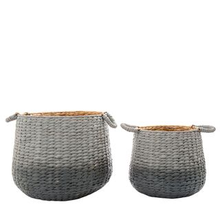 Playa Ombre Gris Basket Set of 2