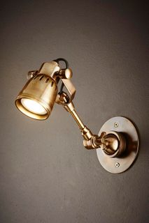 Seattle Long Arm Wall Light Brass