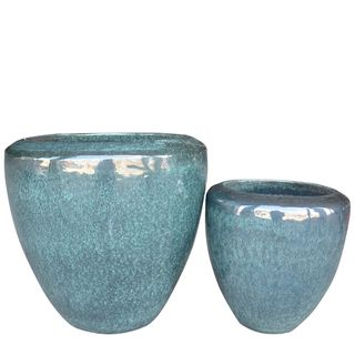 Saigon River Planter Set/2 Emerald