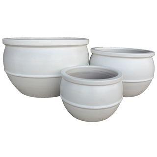 Ruen Planter Set/3 White