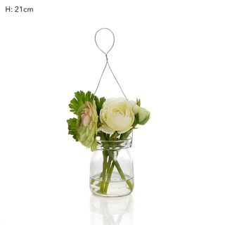 Ranunculus Mix in Milk Vase Cream/GrnL:1