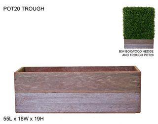 Timber Trough L63xW22xH19