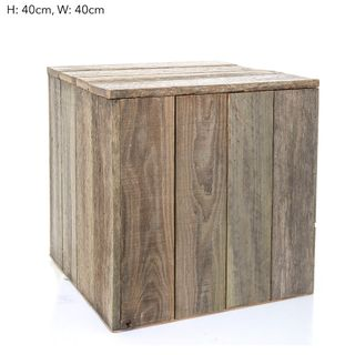 Timber Plinth 40x40x40cm - Nat (S)