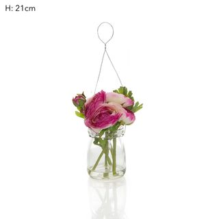 Ranunculus Mix in Milk Vase PinkL:12 W:1
