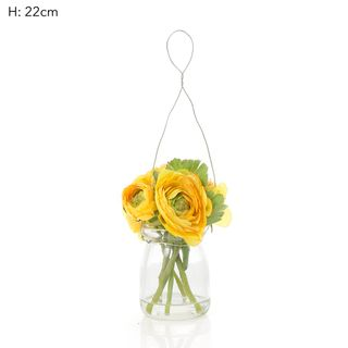 Ranunculus Mix in Milk Vase Yellow